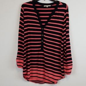 41 Hawthorn/Stitch fix striped coral/navy top